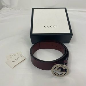mens gucci signature interlocking G belt